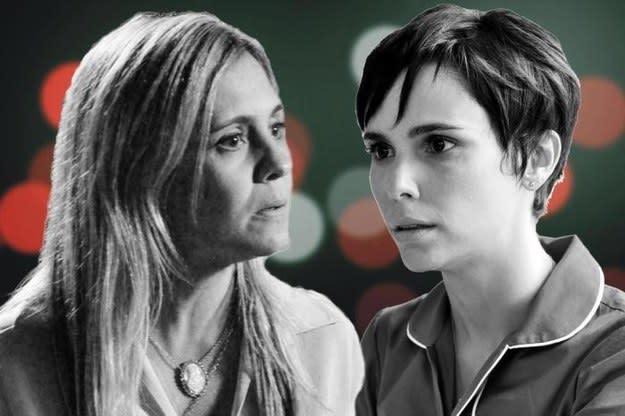 Imagem das atrizes Adriana Esteves e Débora Falabella.