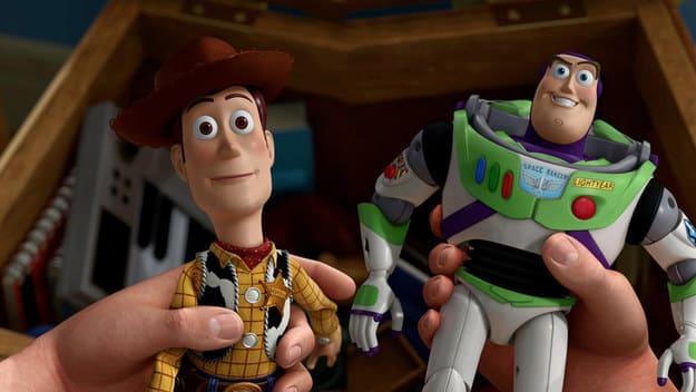 "Imagem mostra Woody e Buzz Lightyear, de ""Toy Story""."