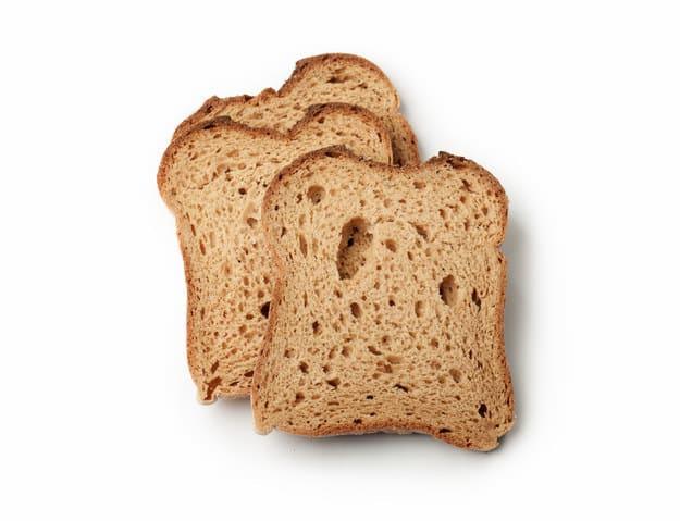 Fatias de pão de forma
