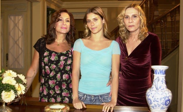 Imagens das atrizes Susana Vieira, Carolina Dieckmann e Renata Sorrah.