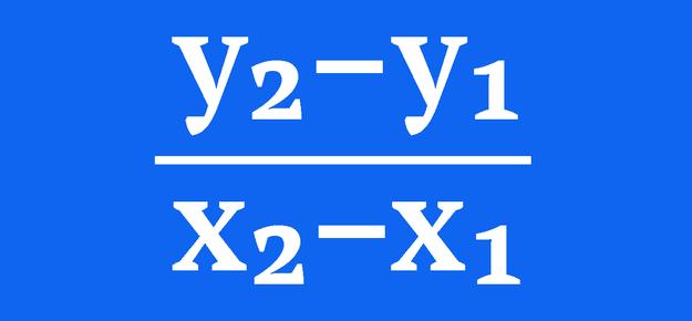 (y₂–y₁)/(x₂–x₁)