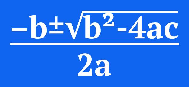 (-b±√(b²-4ac))/(2a)