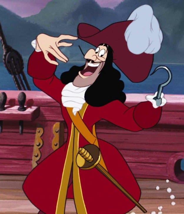 """Imagem do Capitão Gancho, de """"Peter Pan""""."""