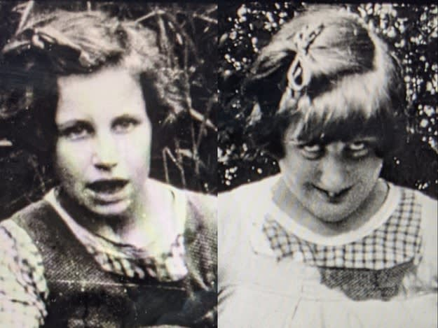 Foto antiga das irmãs Nerissa e Katherine na vida real.