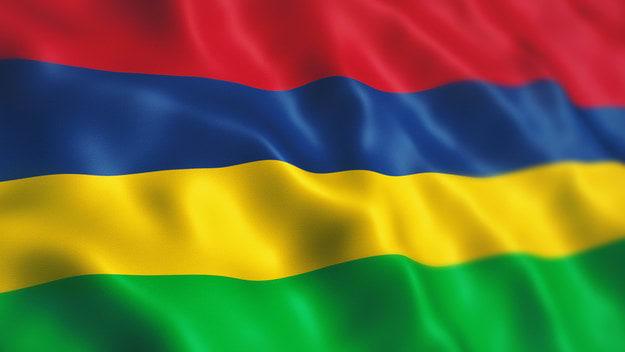 The Mauritian flag