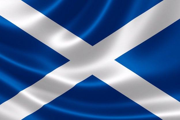The Scottish flag