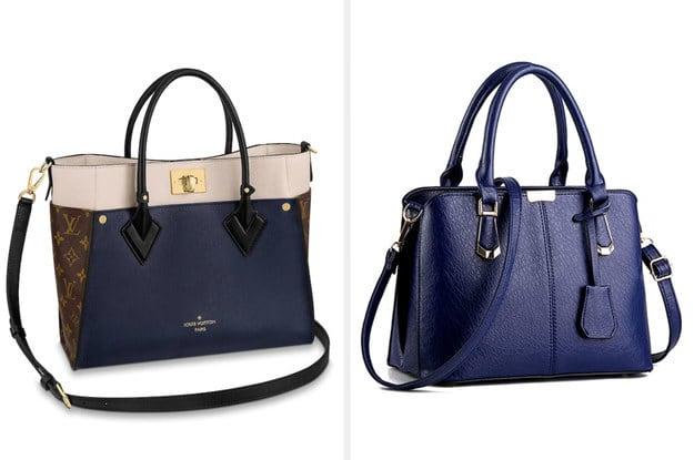 Foto das duas bolsas lado a lado.