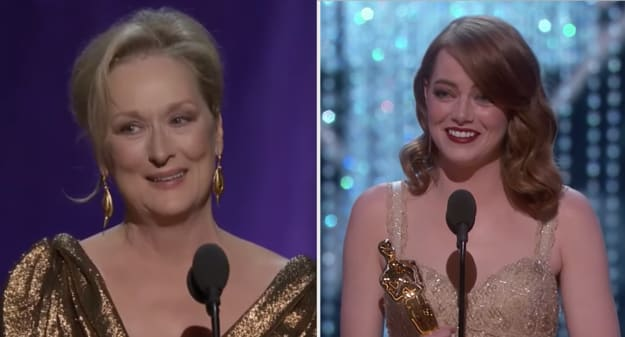 Side-by-side of Meryl Streep and Emma Stone