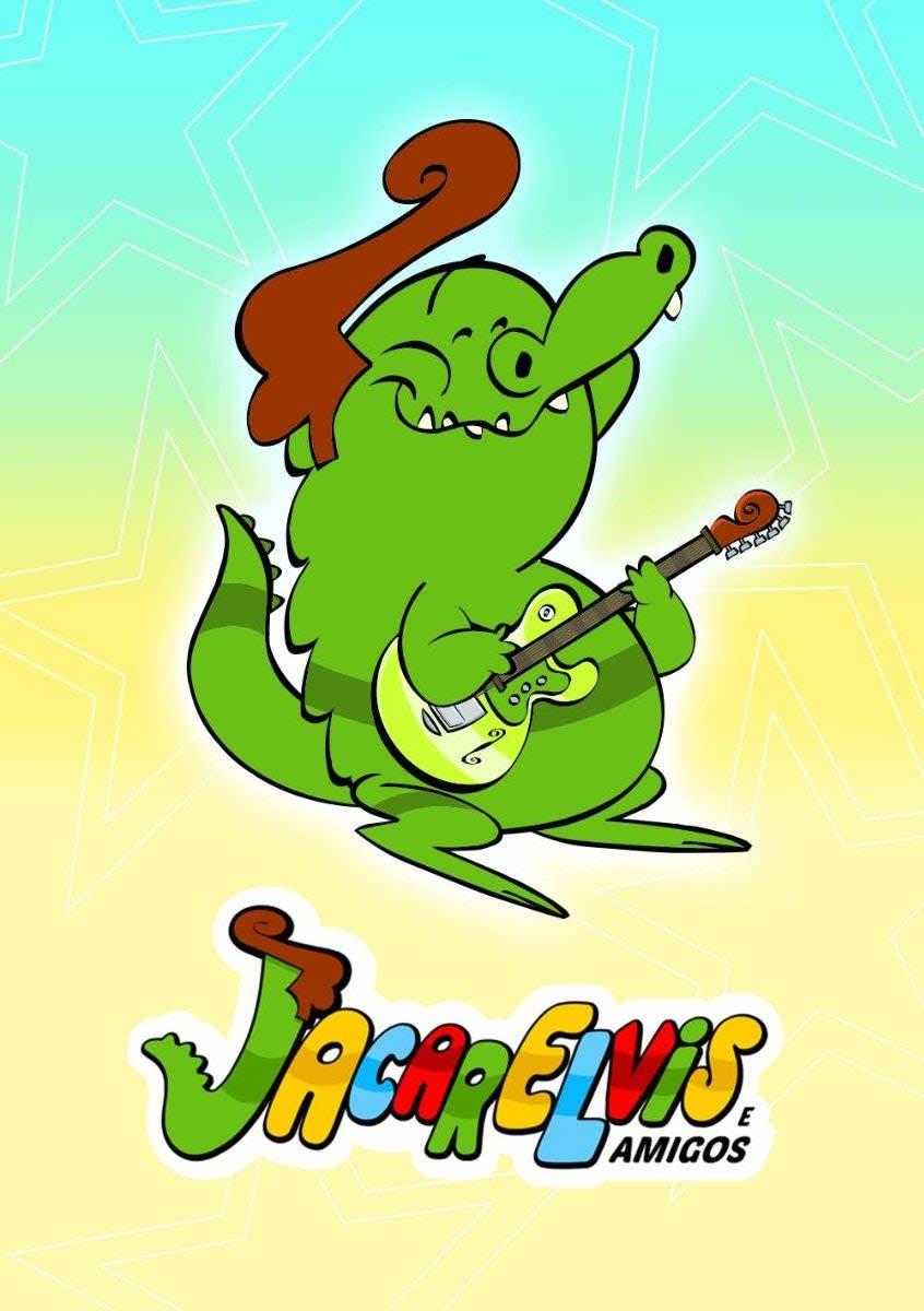Personagem da série infantil animada Jacarelvis