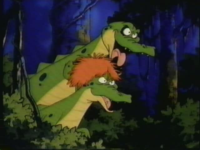Personagens Floyd e Jolene, vilões do desenho animado Kissyfur