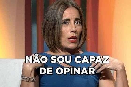 """Gloria Pires no meme do Oscar """"Não sou capaz de opinar"""""""
