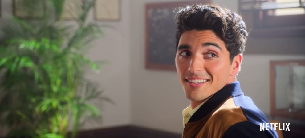 """Taylor Perez as Marco smiling like a dazzling demigod in """"The Kissing Booth 2."""""""