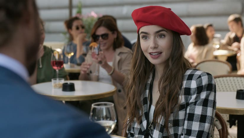 Emily wearing a red beret