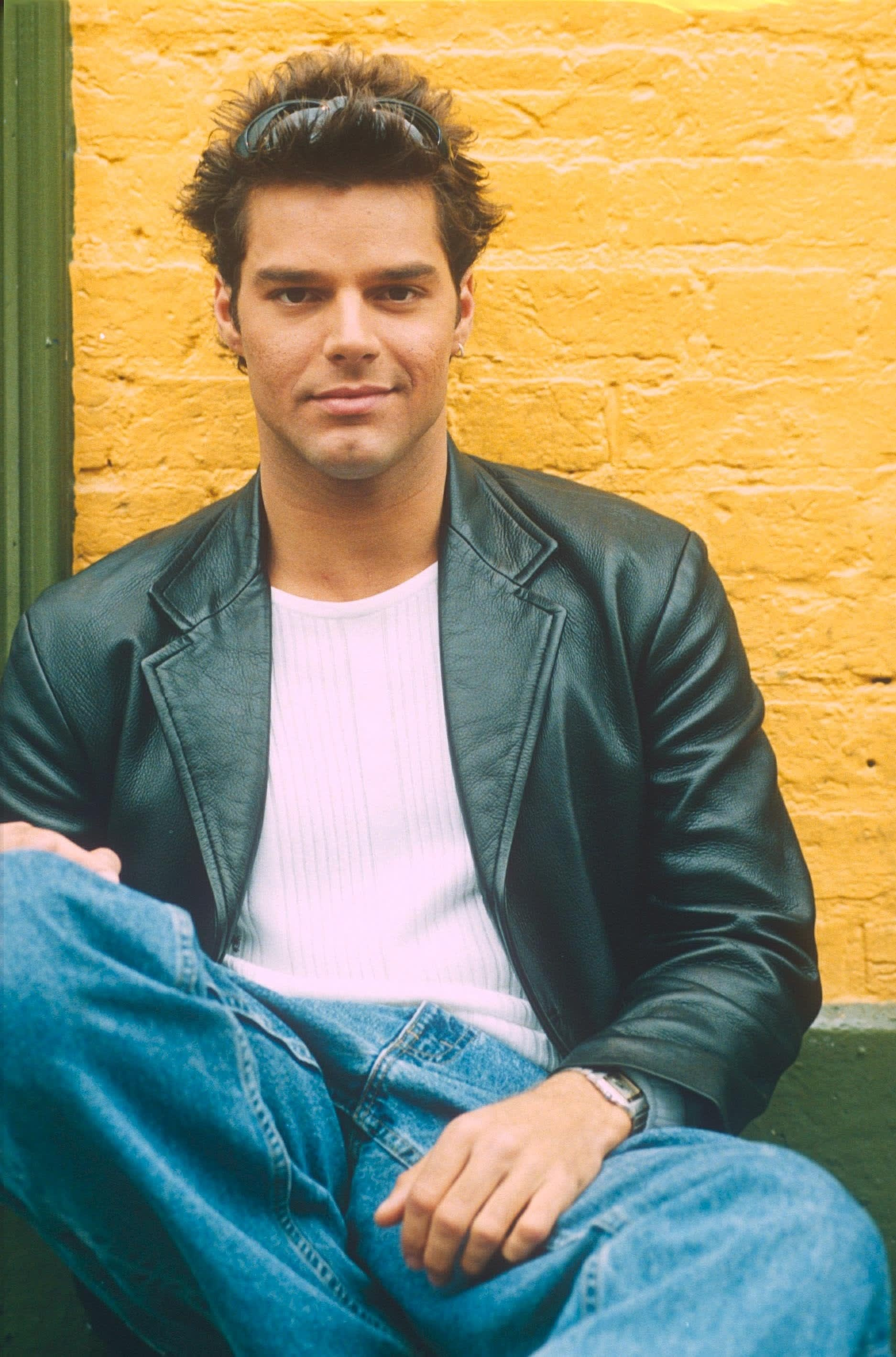 Martin posing for a portrait in 1997