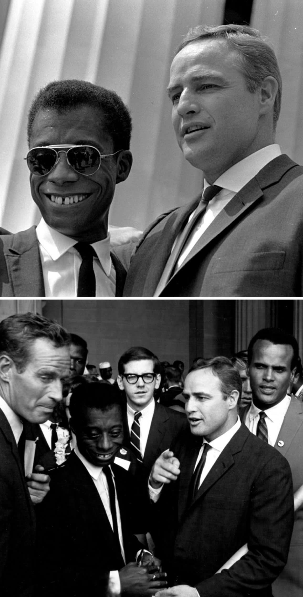 Baldin and Brando at the Lincoln Memorial during the March on Washington for Jobs and Freedom in 1963
