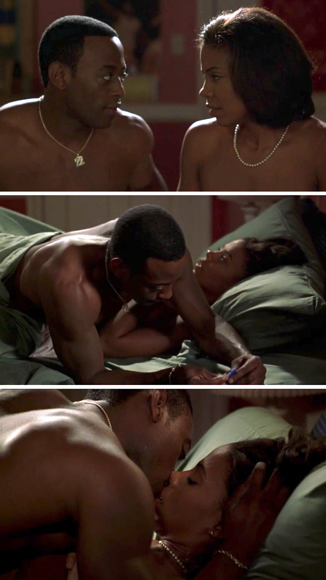 """Sanaa Lathan and Omar Epps in a sex scene from """"Love & Basketball"""""""