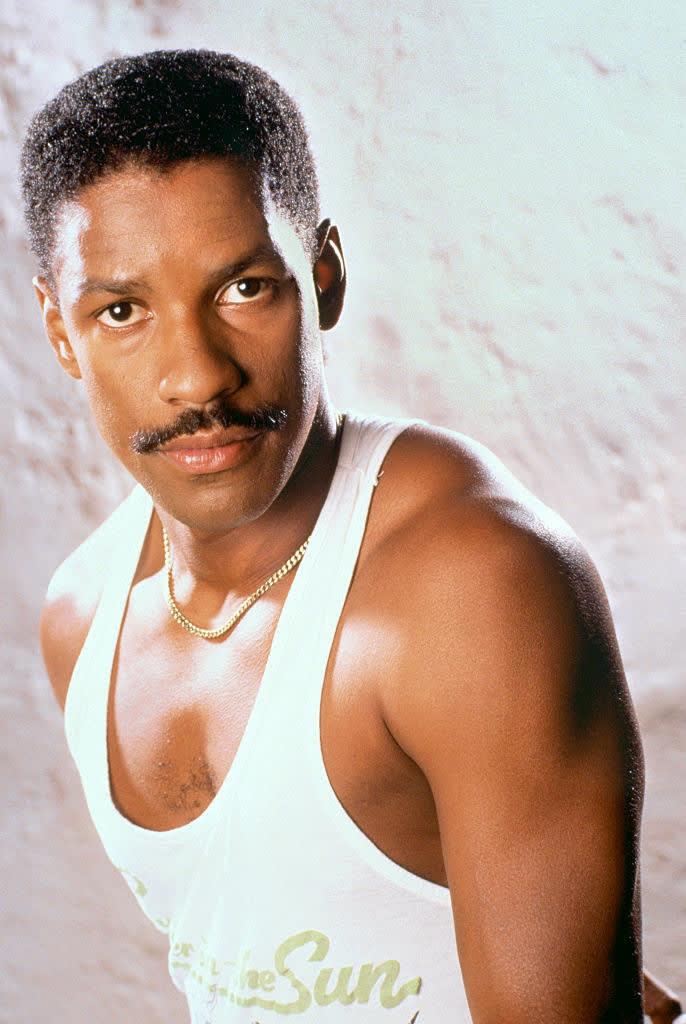 Denzel Washington quando era mais jovem.
