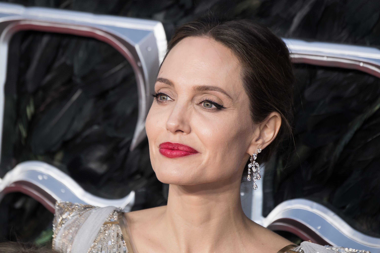 """Angelina Jolie no lançamento de """"Malévola: Dona do Mal"""" em 2019"""