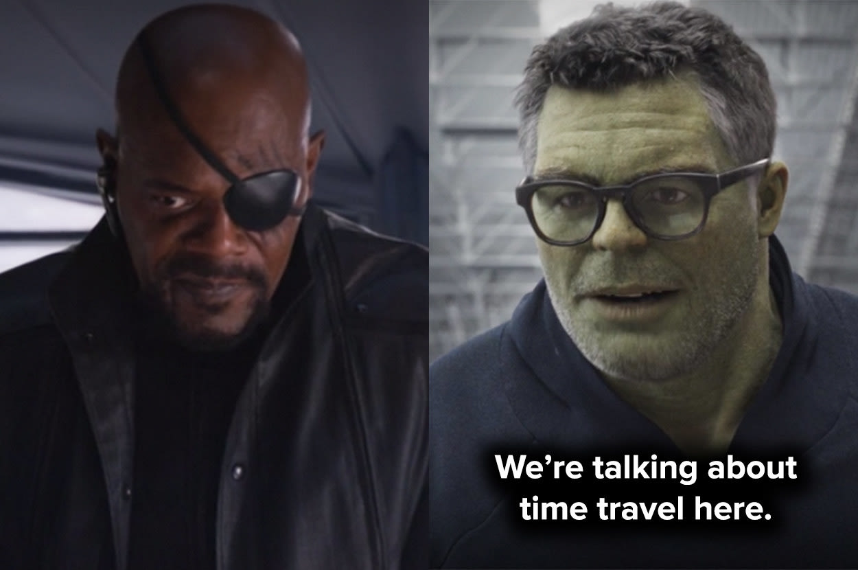 Hulk reminds the Avengers they're talking about time travel