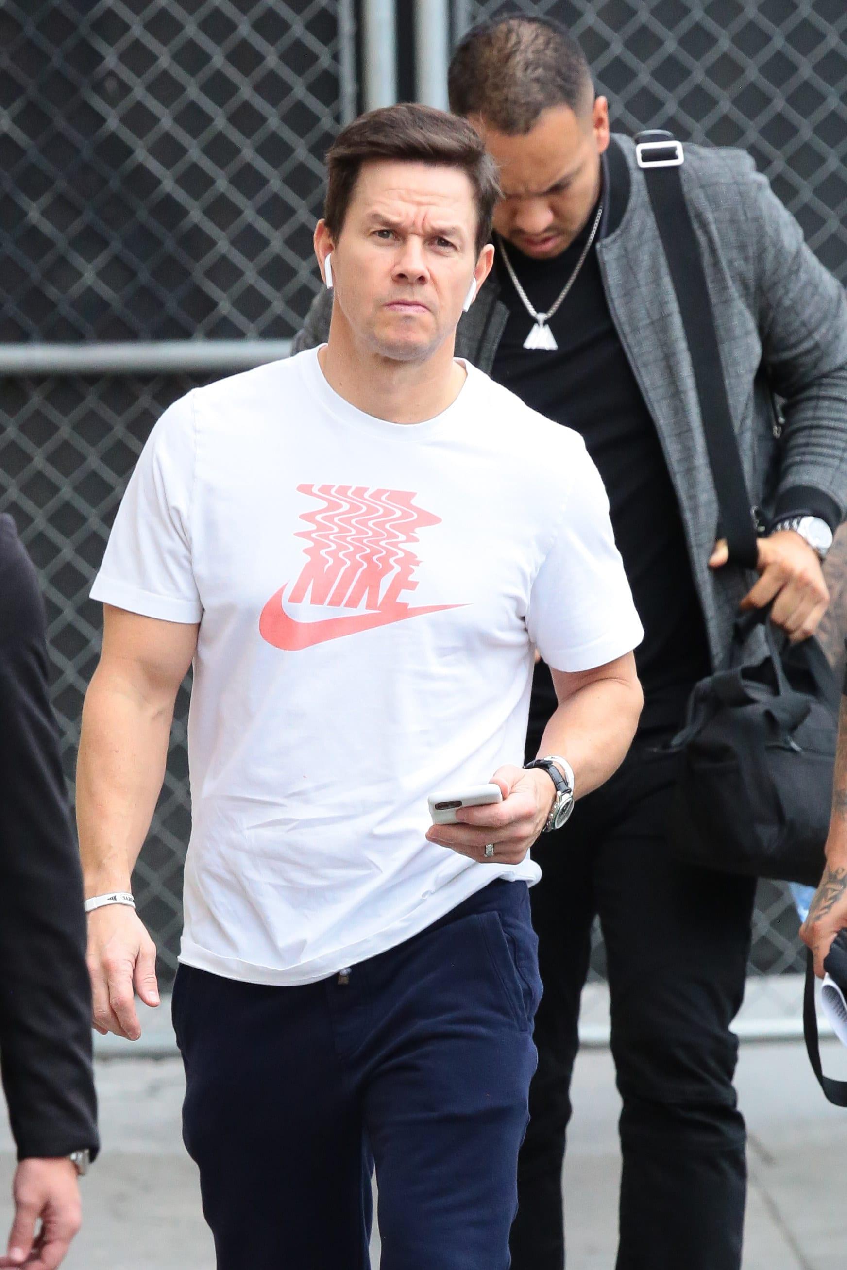 Wahlberg walking in Los Angeles in 2020