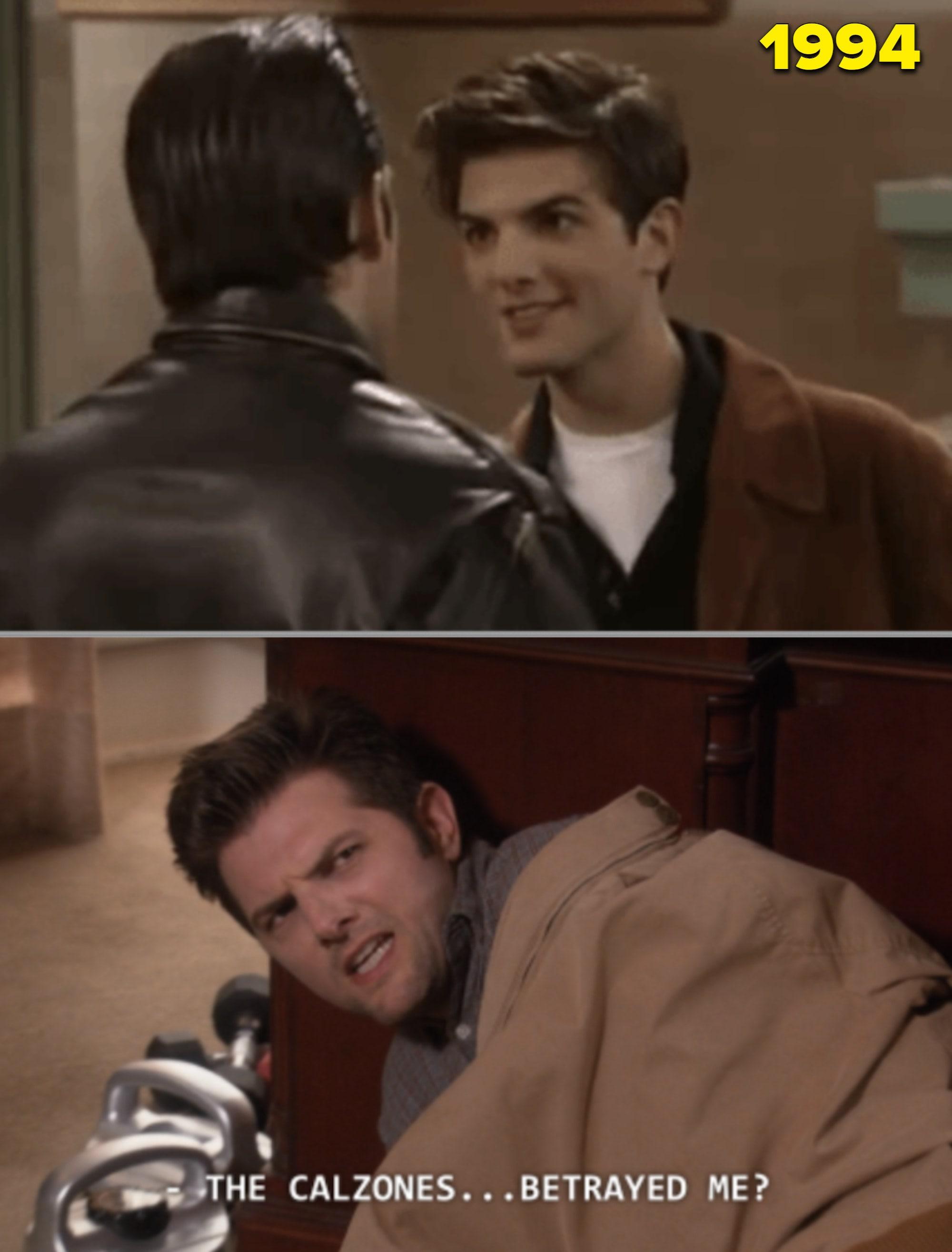 """Adam Scott interpretando Griff em """"O mundo é dos jovens"""" e Ben em """"Parks and Recreation"""""""