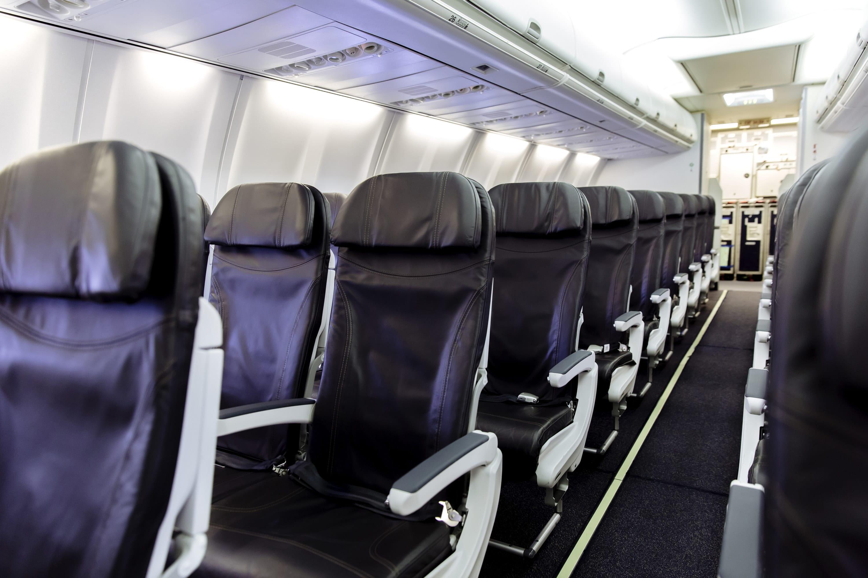 an empty air plane interior