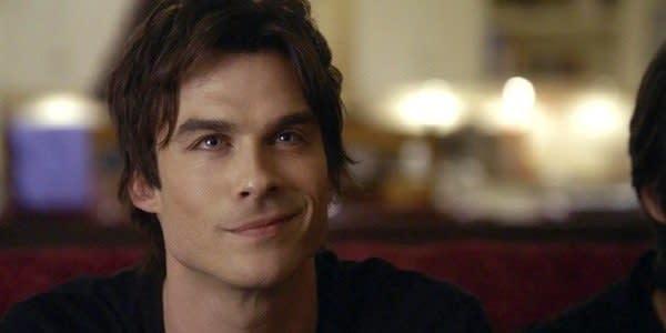 "Imagem de Damon, de ""The Vampire Diaries""."