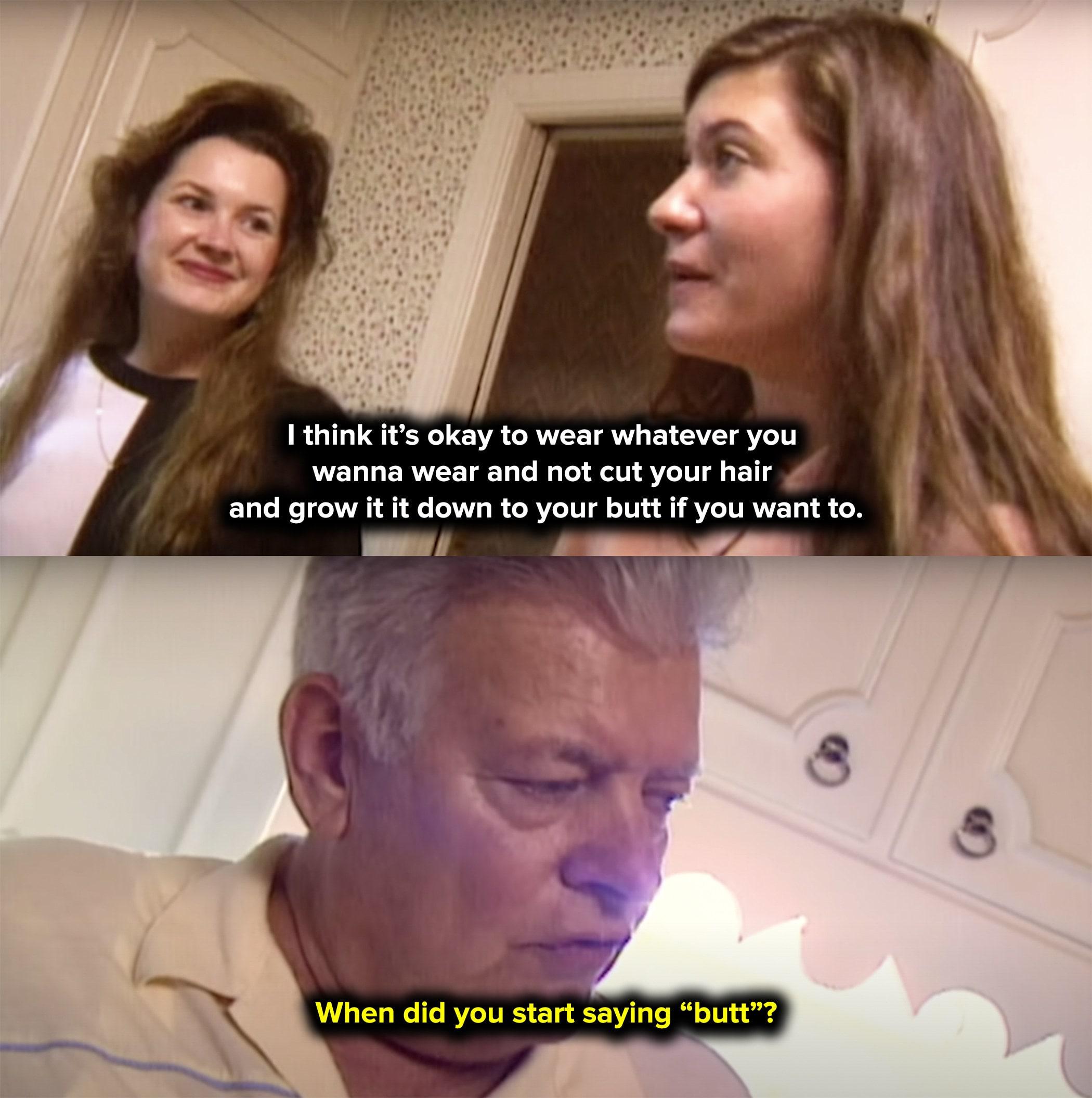 Pai de Julie bravo porque ela disse 'bunda' na televisão