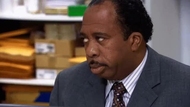 Meme do Stanley do The Office.