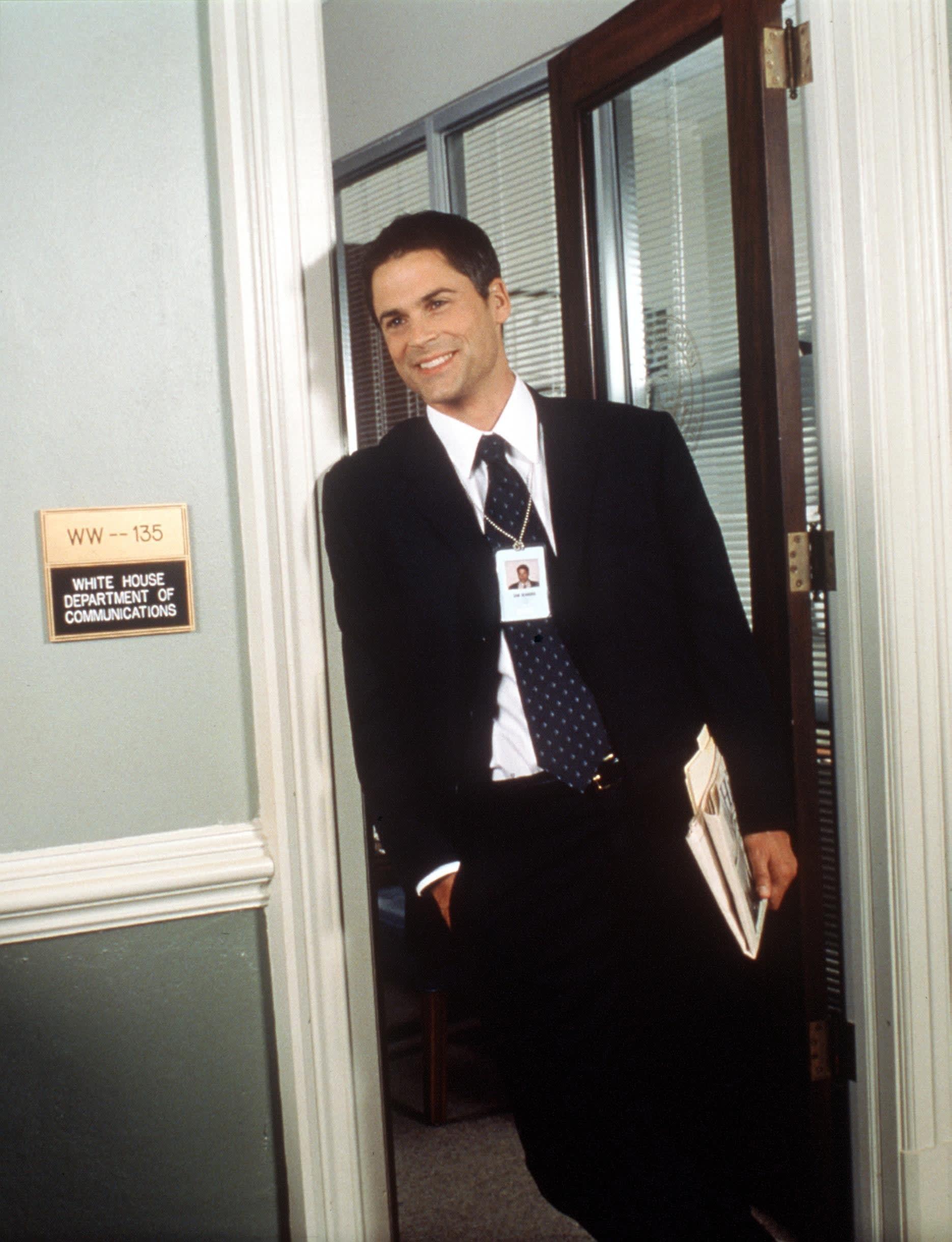 Rob Lowe in a doorway