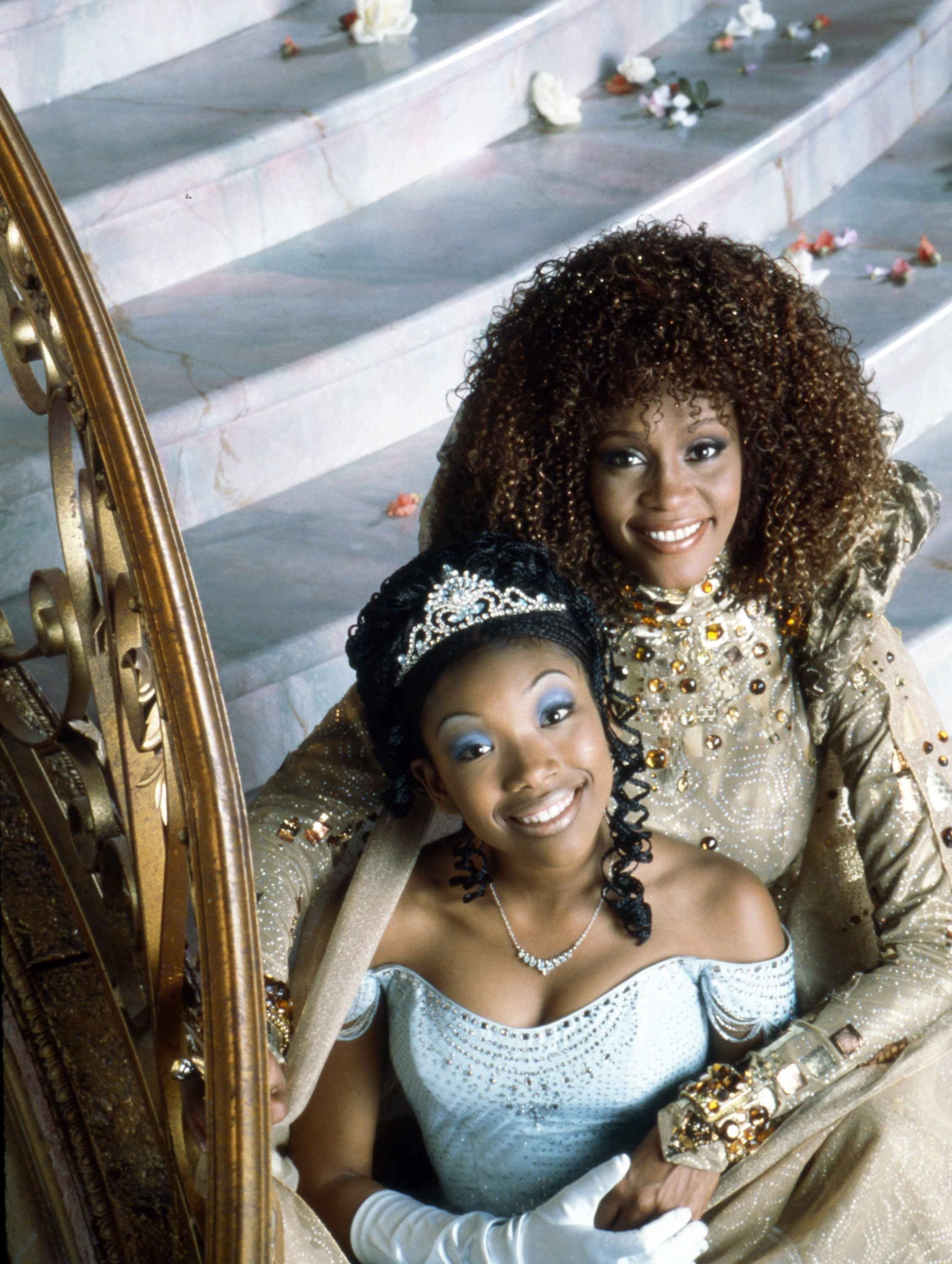 Brandy as Cinderella and Whitney Houston as her fairy godmother