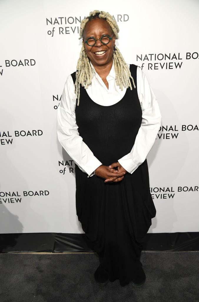 Whoopi Goldberg smiles widely as she attends The National Board of Review Annual Awards Gala
