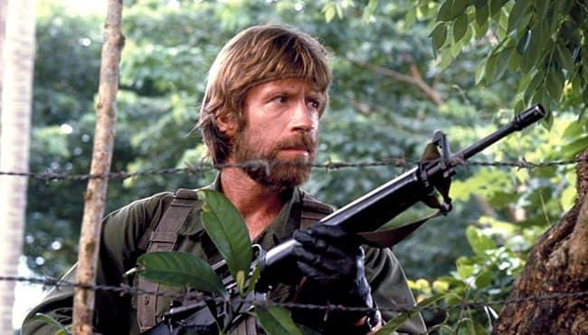 Foto do Chuck Norris num filme
