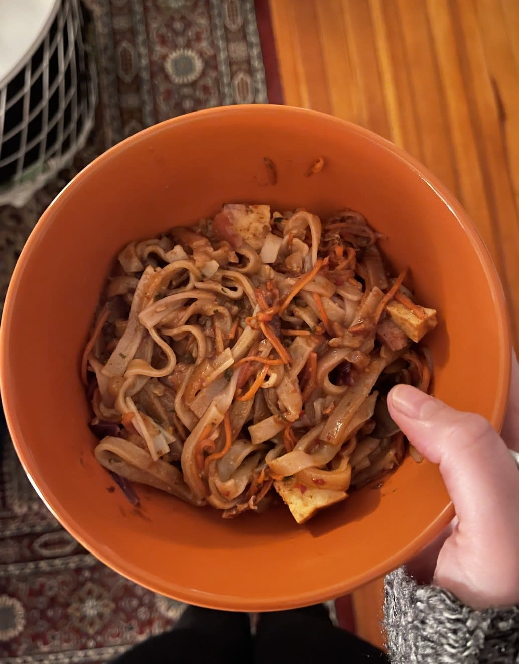 Thai noodles in a bowl