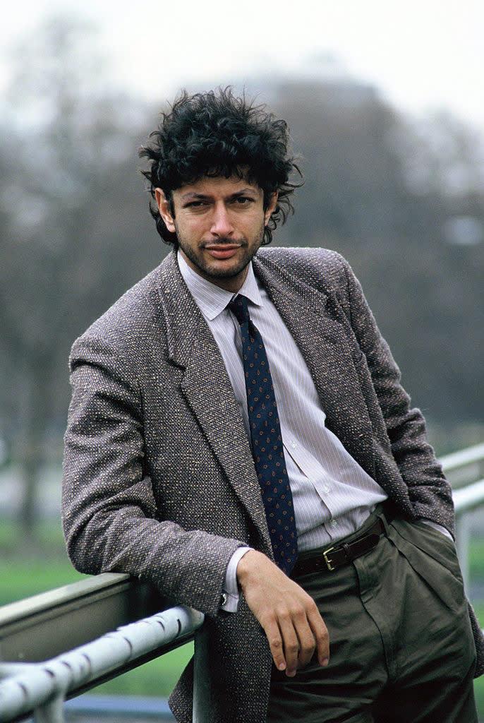 Jeff Goldblum quando era mais jovem.