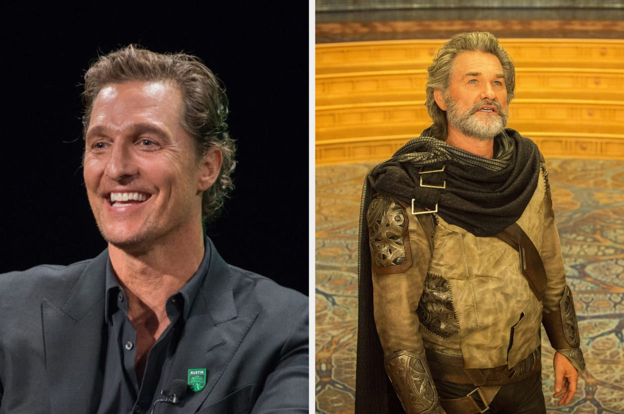 Matthew McConaughey and Kurt Russell as Ego
