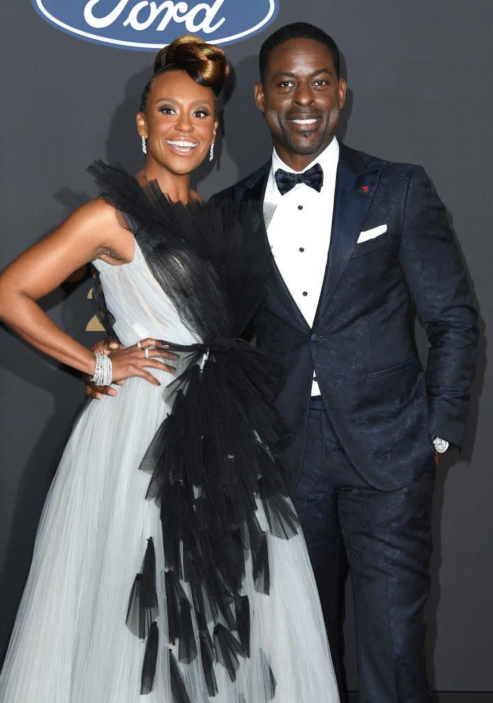 Brown and Bathe pose at the NAACP Image Awards