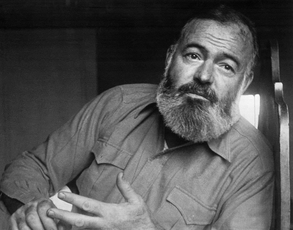 Ernest Hemingway in his older years