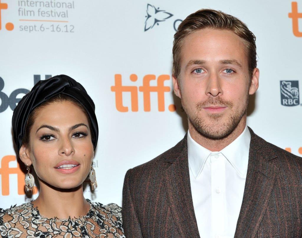 Foto do Ryan Gosling com sua namorada Eva Mendes.
