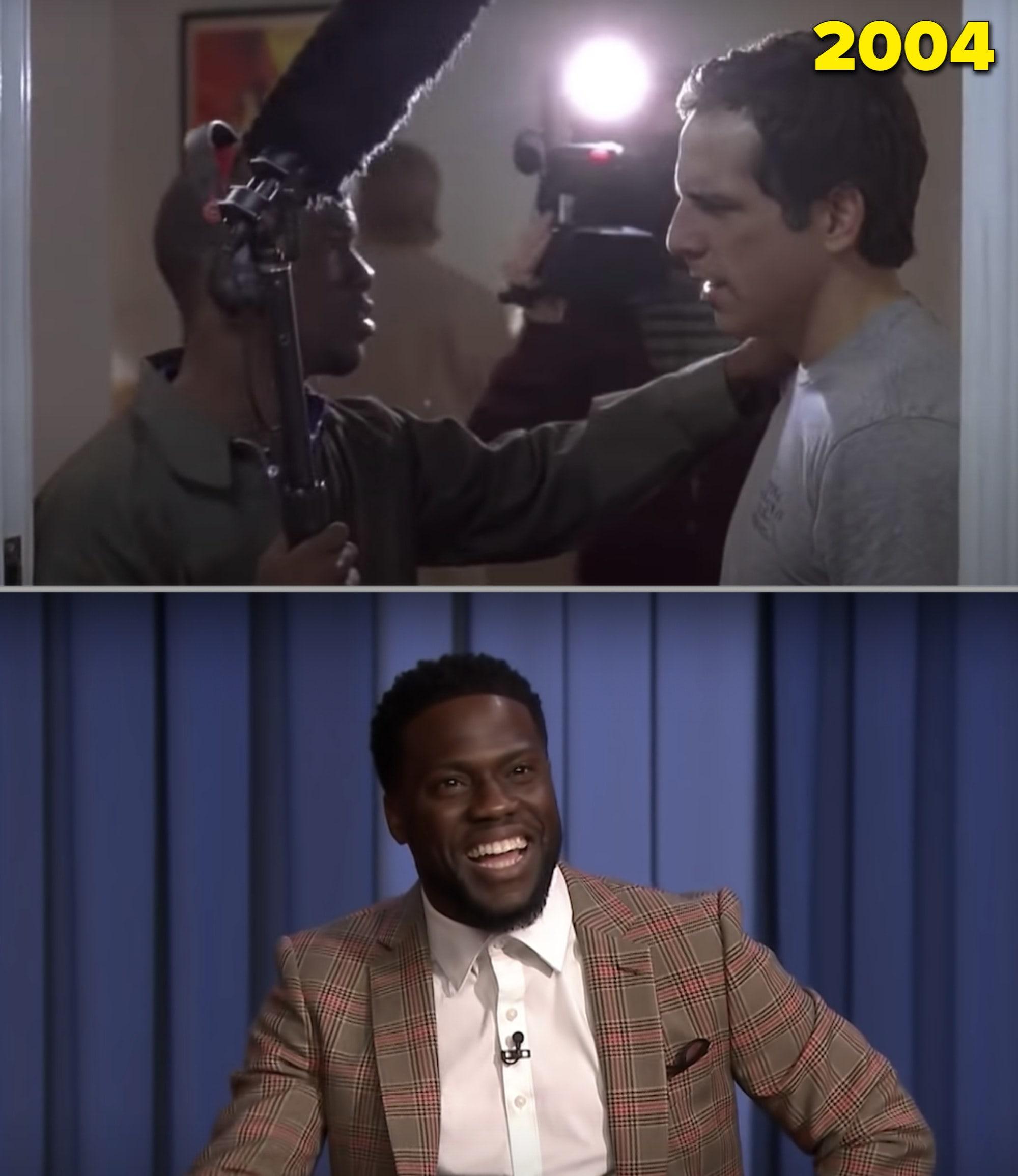 """Kevin Hart como figurante em """"Quero Ficar com Polly"""" e numa entrevista pro """"Tonight Show"""" e 2018"""