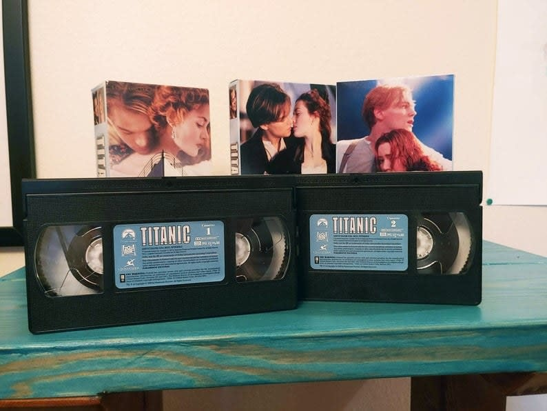 Titanic two VHS tapes
