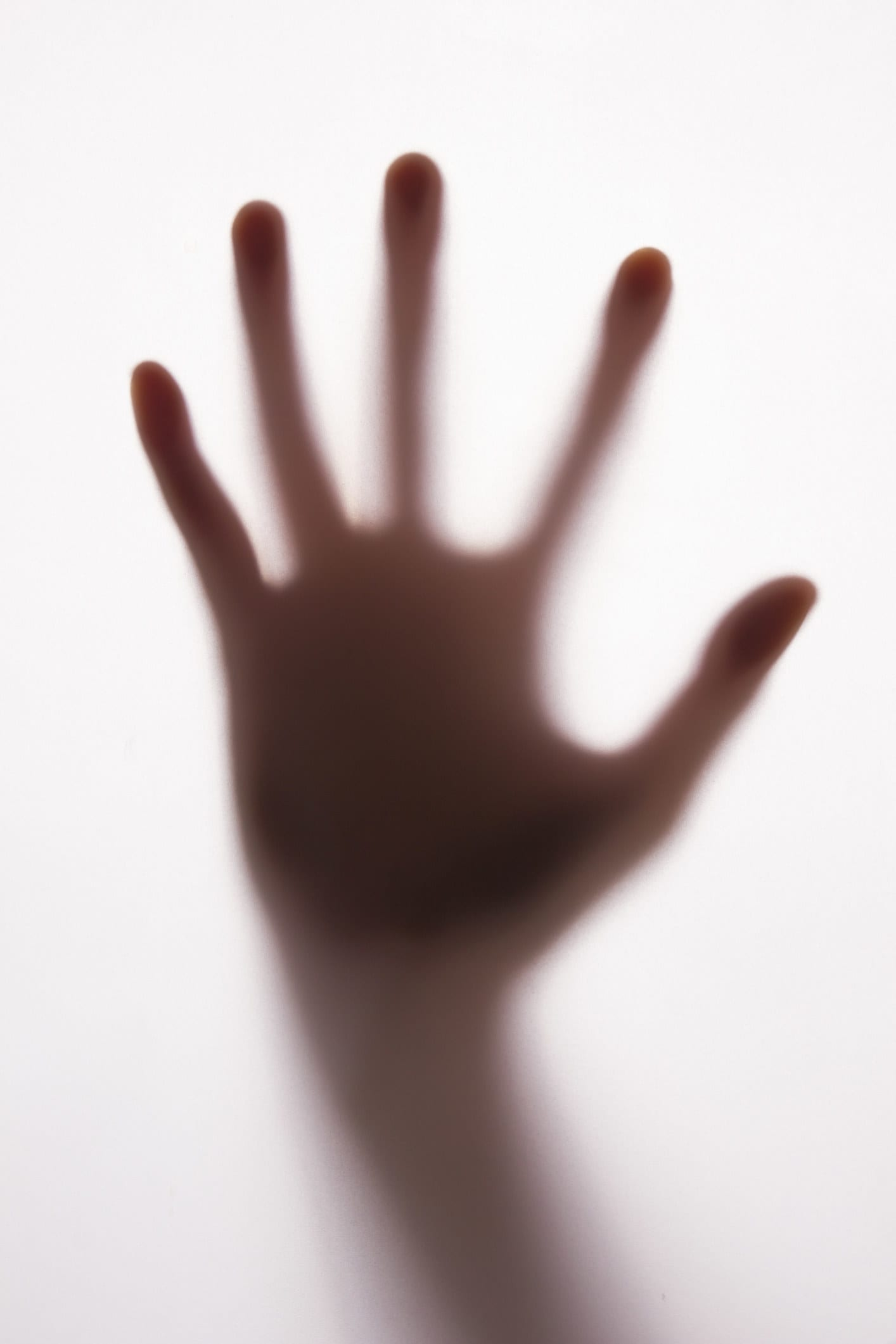 The silhouette of a hand