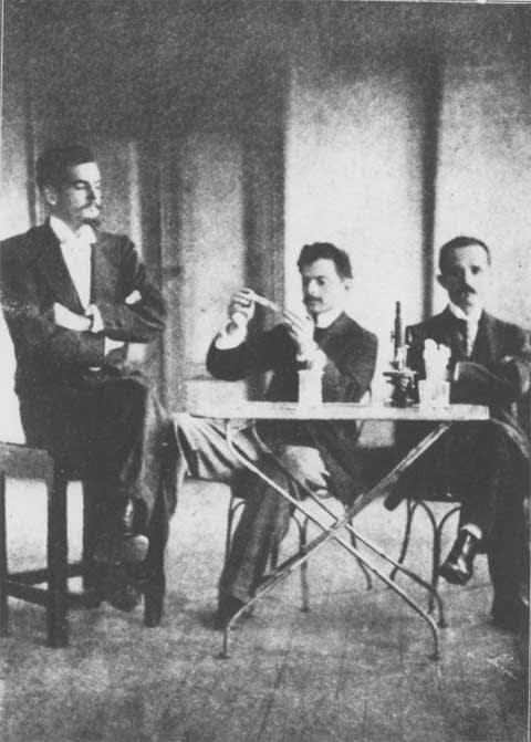 Imagem mostra Bonilha de Toledo, Vital Brazil e Arthur Mendonça.