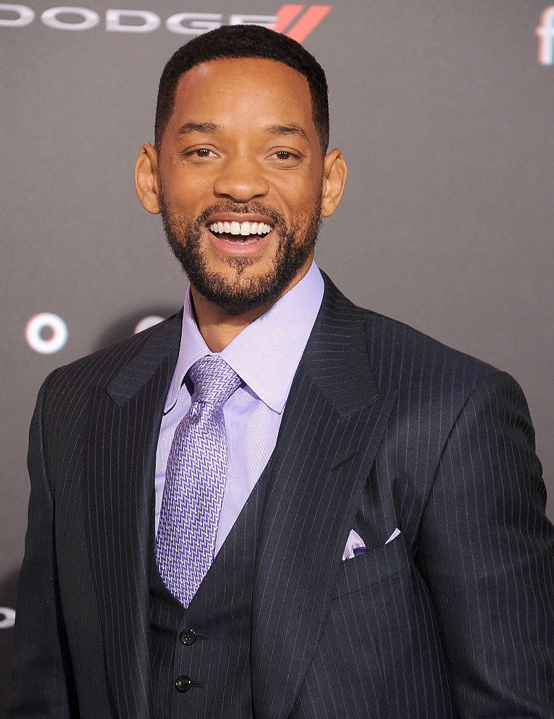 """Will Smith arrives at the Los Angeles World Premiere of Warner Bros. Pictures """"Focus"""""""