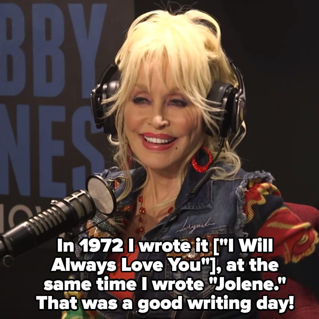 """Dolly Parton: """"Em1972, eu compus 'I Will Always Love You' e 'Jolene' ao mesmo tempo. Esse dia foi bom para compor!"""""""
