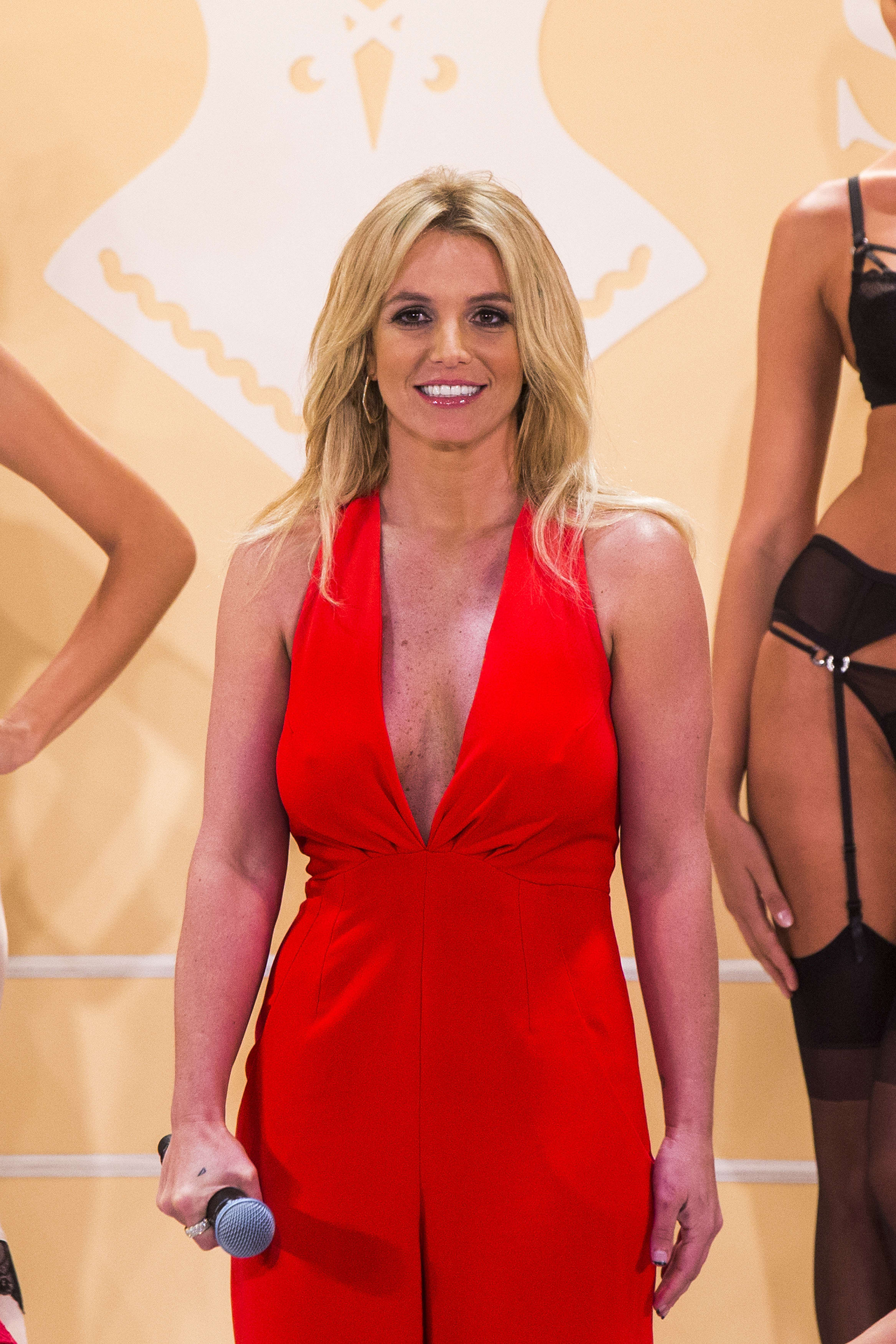 Britney standing on-stage