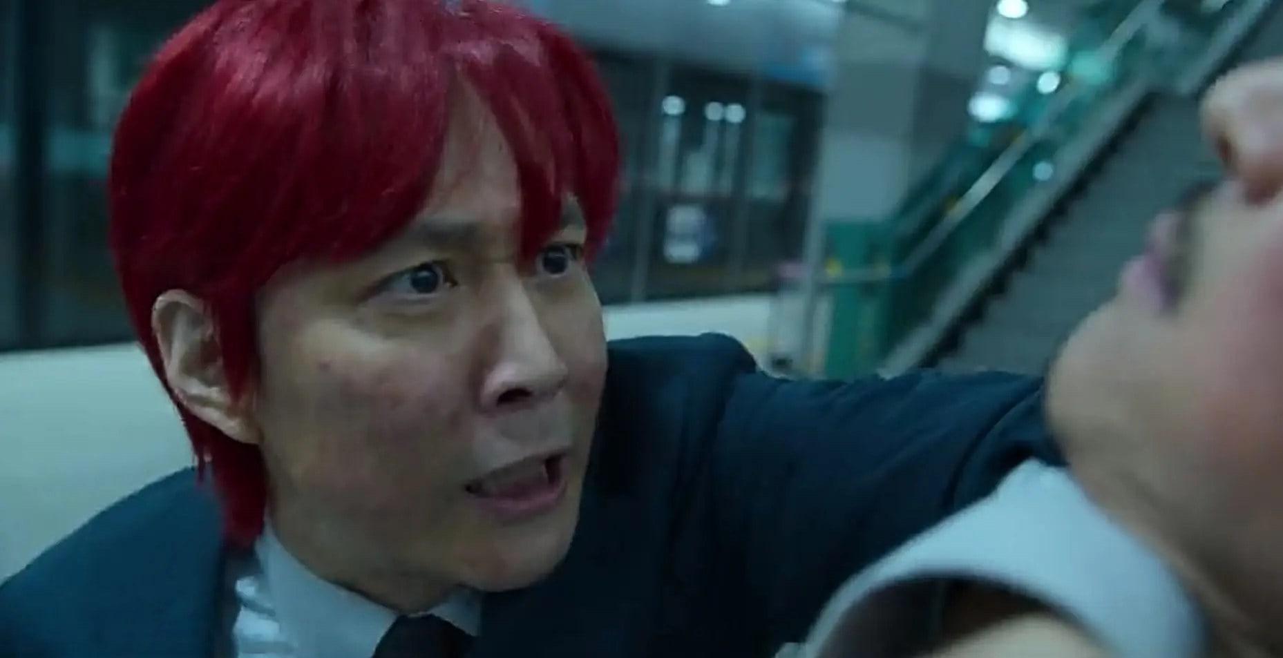 Gi Hun with red hair.