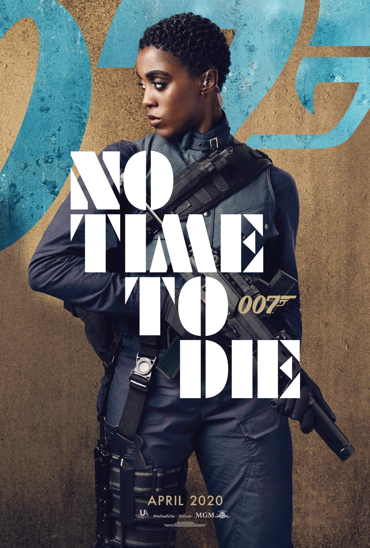 """Lashana no poster do filme """"Sem Tempo Para Morrer"""""""