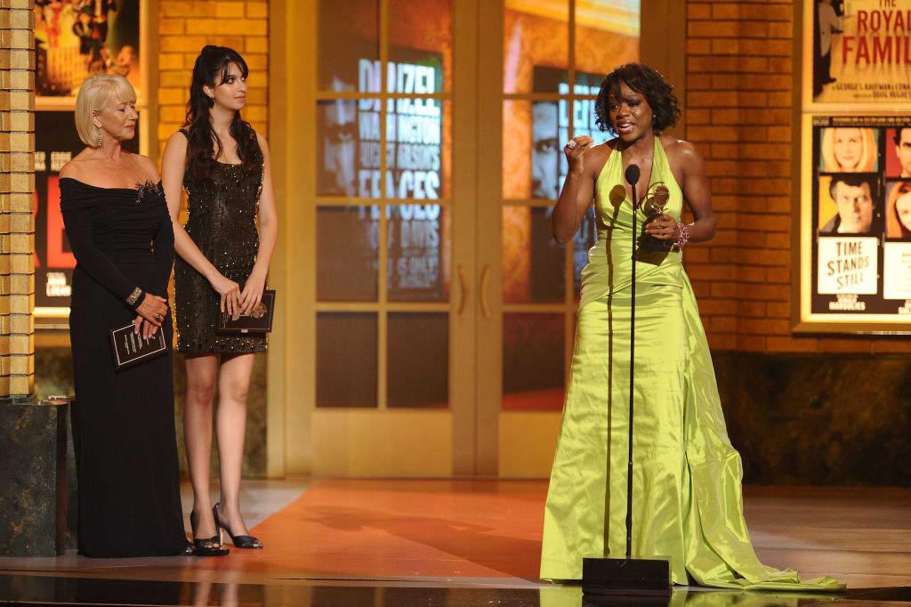 Viola Davis accepts a Tony Award for best actress