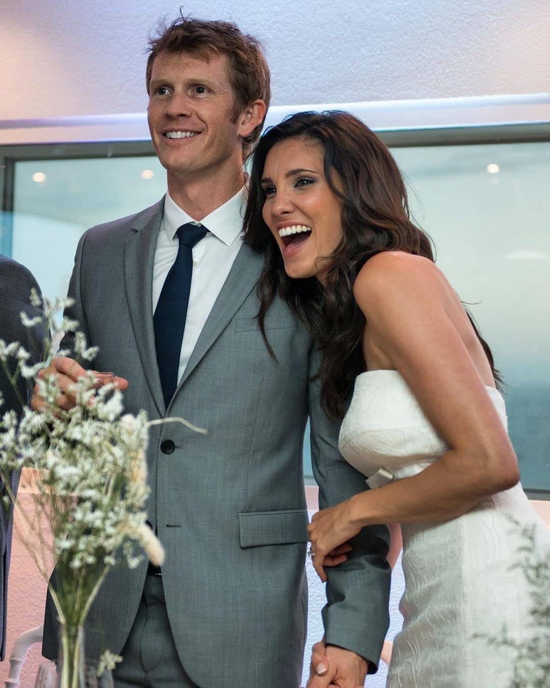 David and Daniela together on their wedding